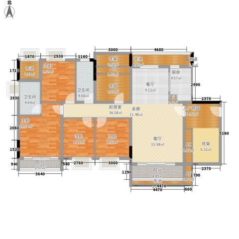 富城华府4室0厅2卫1厨141.00㎡户型图