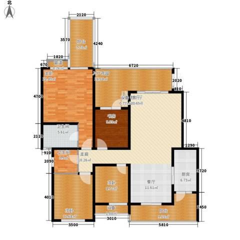 龙湖悠山庭院4室1厅2卫1厨146.41㎡户型图