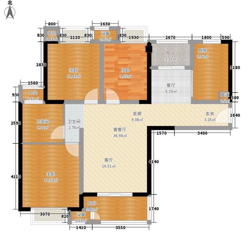 苏宁·天御广场113.00㎡B户型3室2厅