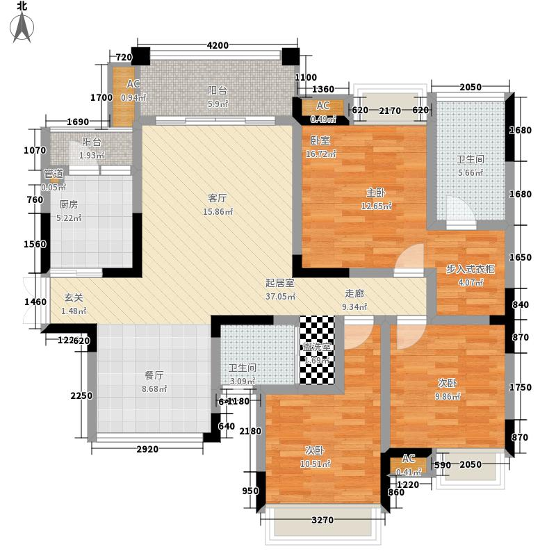 协信云栖谷105.25㎡11号楼2号房面积10525m户型