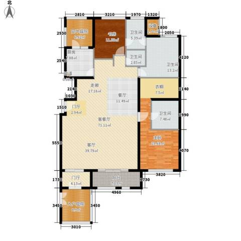 海棠公社2室1厅4卫1厨195.00㎡户型图