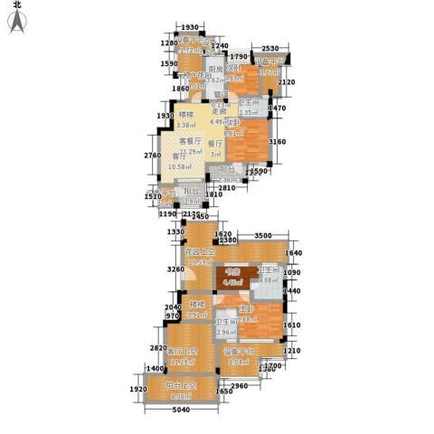 长江国际・朗庭4室1厅3卫1厨152.00㎡户型图