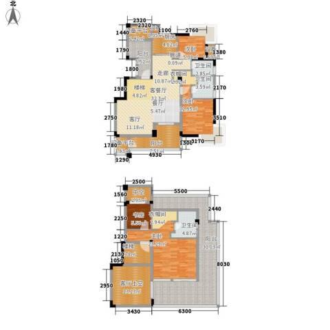 长江国际・朗庭4室1厅3卫1厨191.00㎡户型图