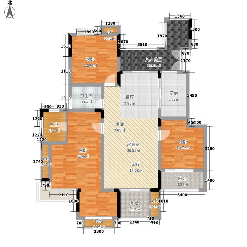 斌鑫中央国际公园114.48㎡B区B1/B2号楼标准层A4户型