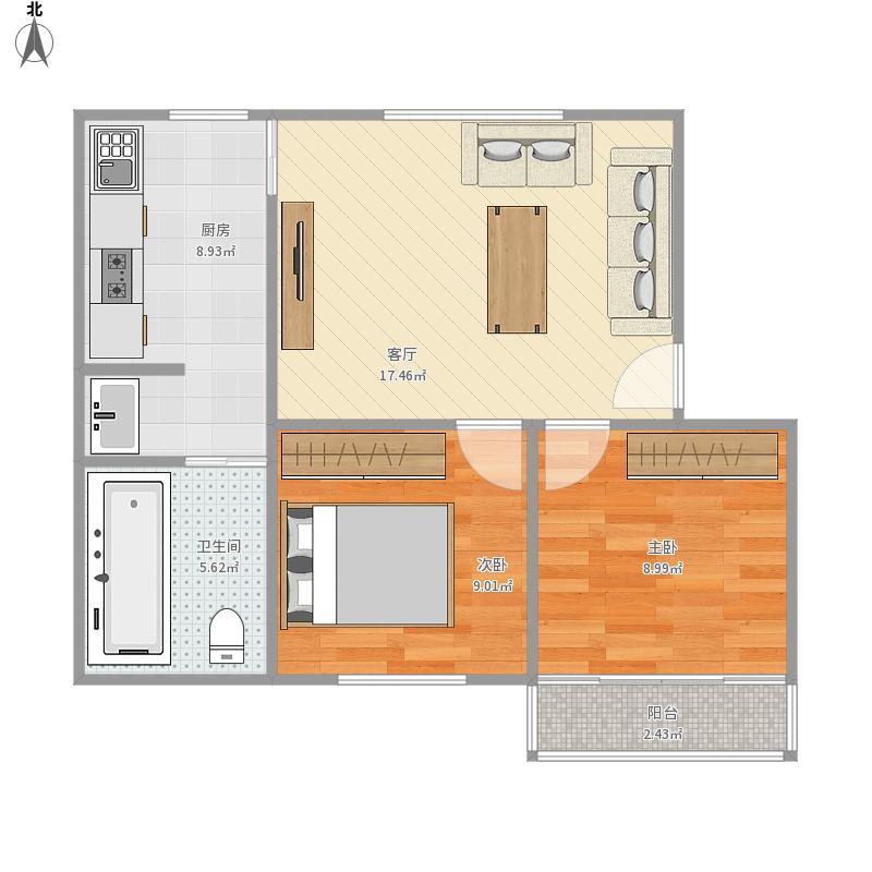 两房一厅一卫