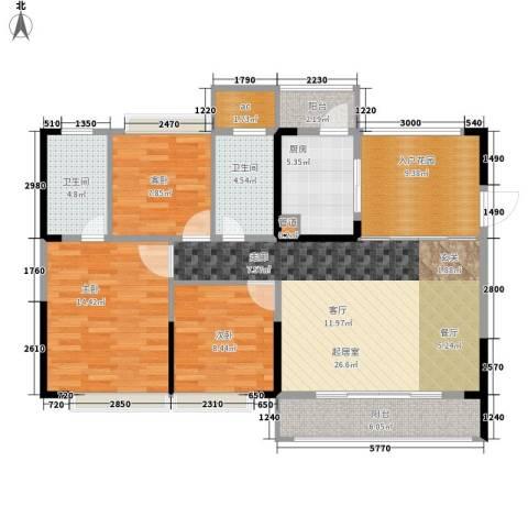 德洲城3室0厅2卫1厨111.00㎡户型图