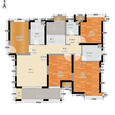 上海滩大宁城3室0厅2卫1厨138.00㎡户型图