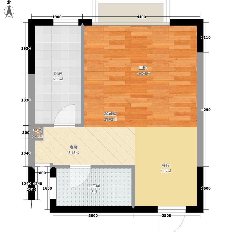 景园·悦海湾52.00㎡户型1室1厅