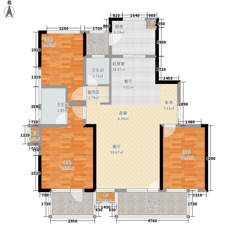 博林金谷134.00㎡A234栋A型面积13400m户型
