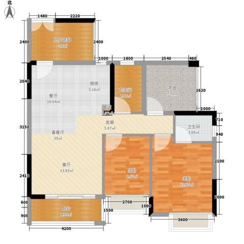 富盈公馆2室1厅2卫0厨100.00㎡户型图