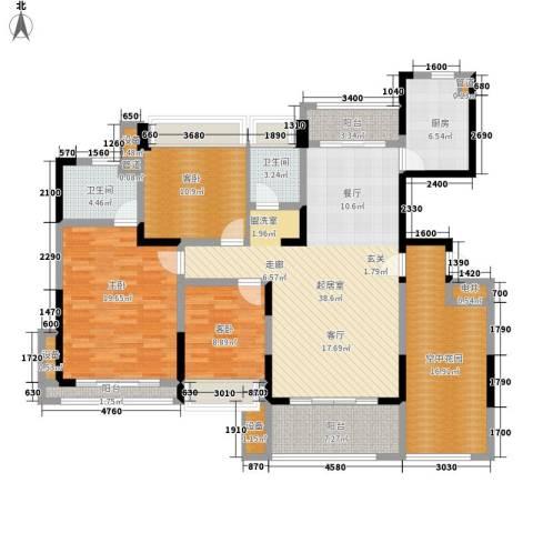 五矿龙湾国际社区3室0厅2卫1厨142.00㎡户型图