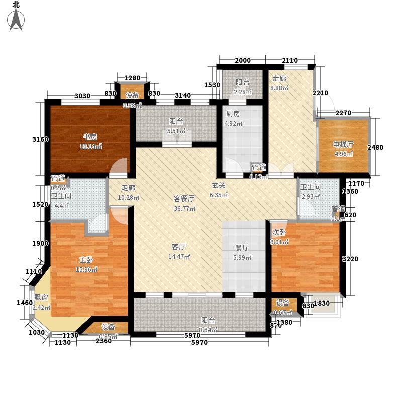 国信御湖公馆128.00㎡户型3室2厅