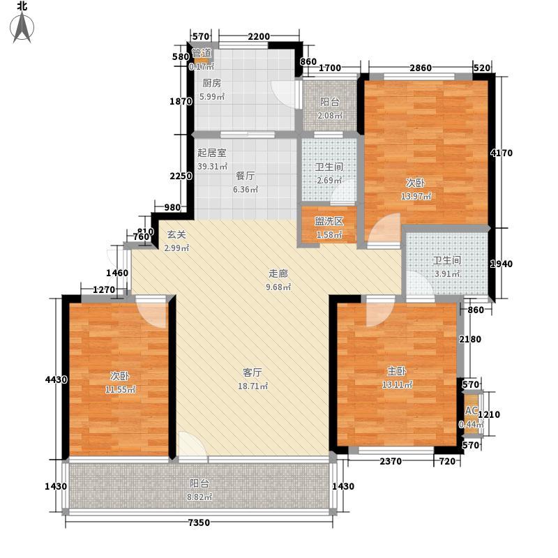 博林金谷138.00㎡A234栋B型面积13800m户型