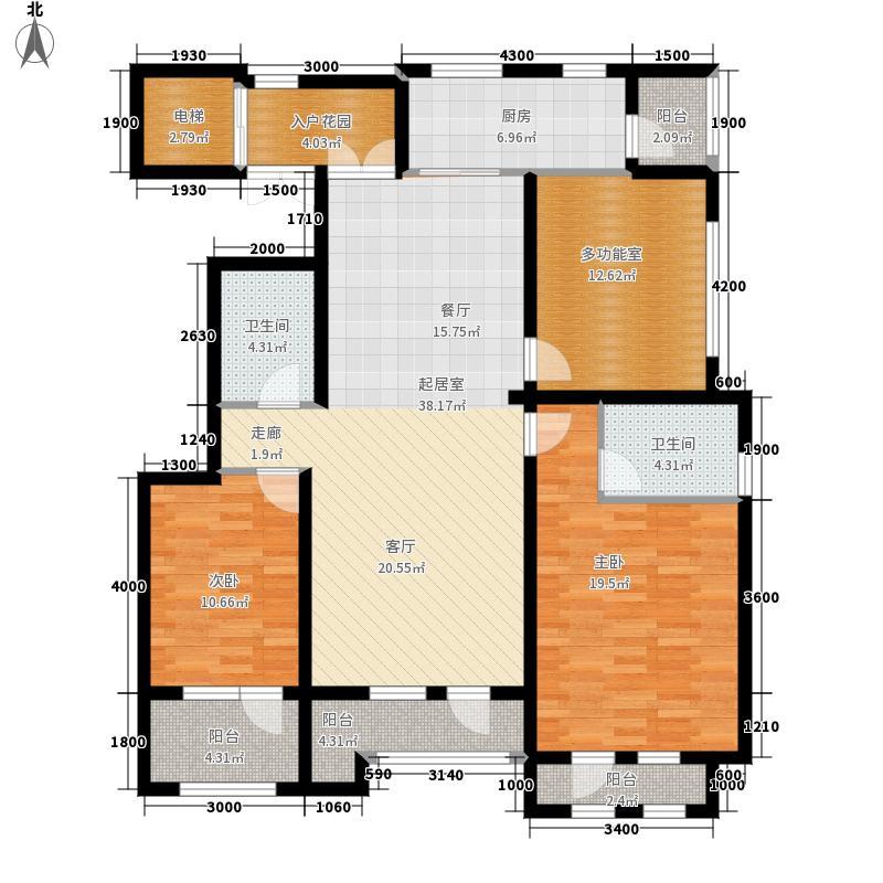 山语世家137.00㎡二期F1-F4号楼F3户型3室2厅