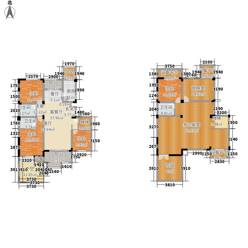 苏宁·天御广场255.56㎡F-1户型4室3厅