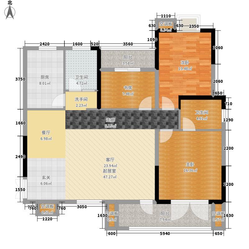 海马公园129.00㎡C户型3室2厅