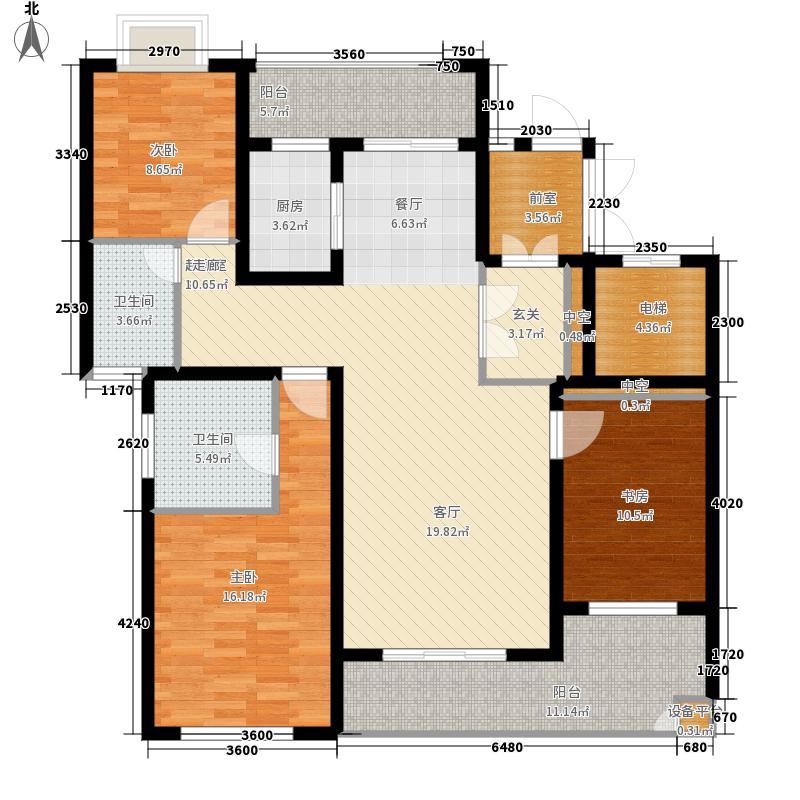 海航豪庭147.93㎡A户型3室2厅