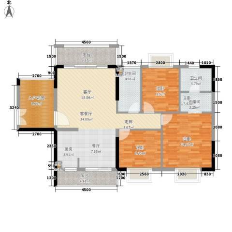 富盈公馆3室1厅2卫0厨115.00㎡户型图