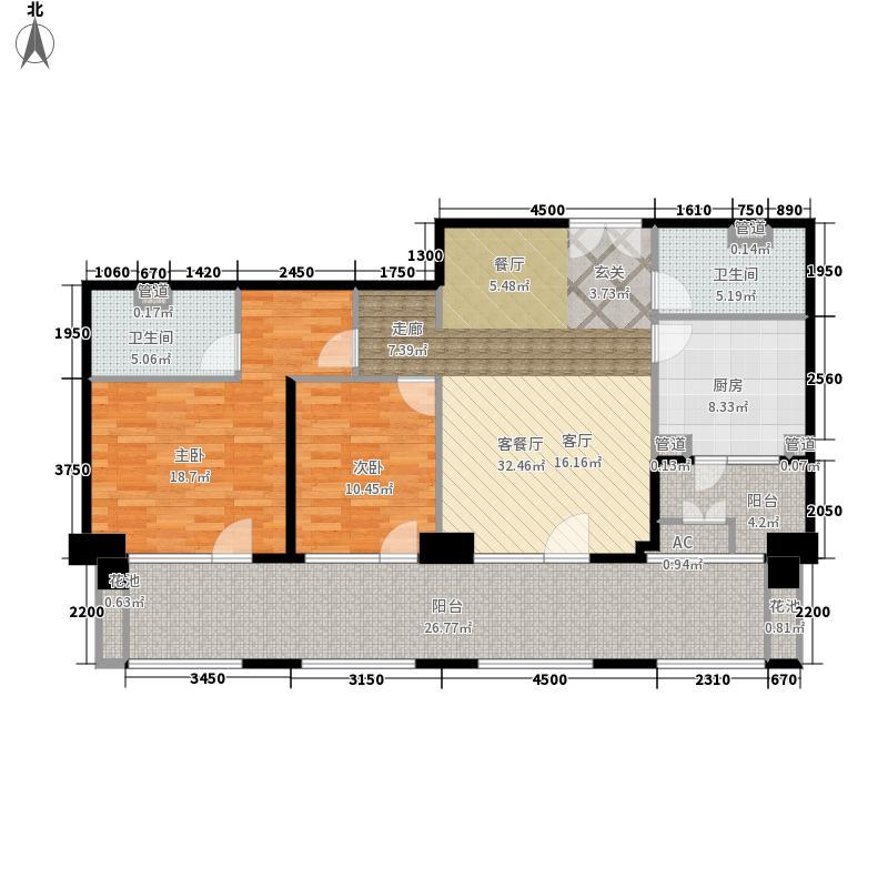 海碧台146.69㎡C4户型2室2厅