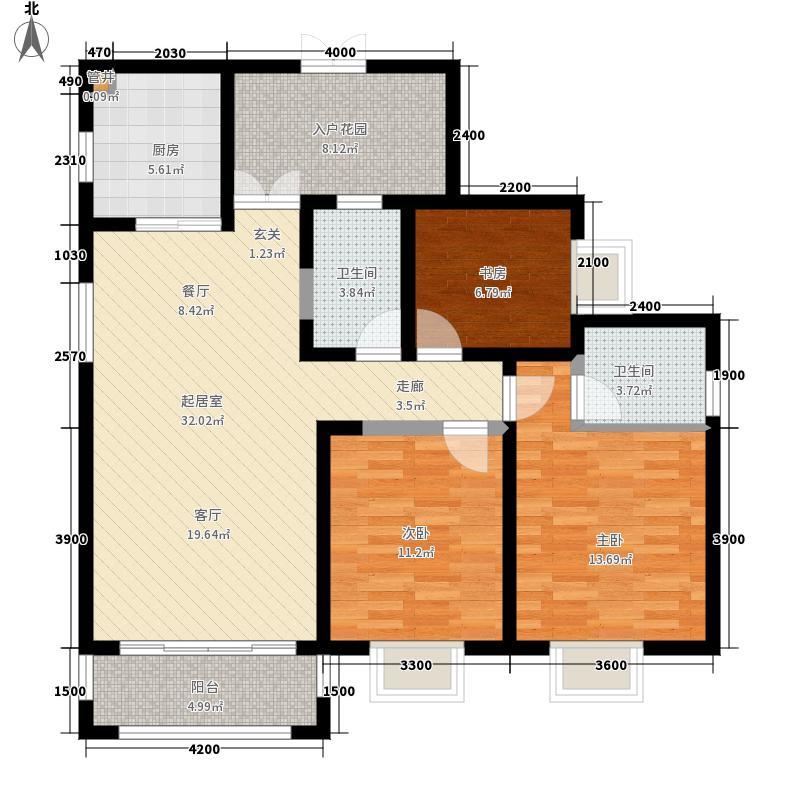 檀溪谷檀溪谷3室2厅2卫户型3室2厅2卫