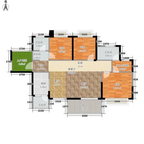 坤元・水木清华3室1厅3卫1厨137.00㎡户型图