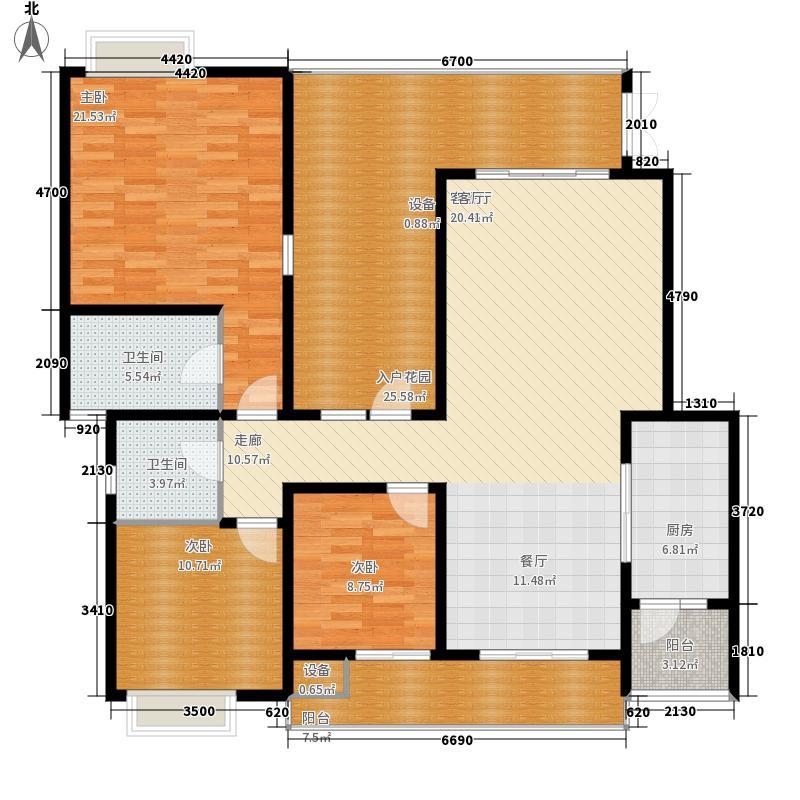龙湖悠山庭院127.00㎡C4-23面积12700m户型
