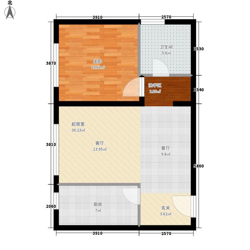 万达·维多利亚湾63.00㎡G2户型1室2厅
