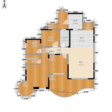 龙湖悠山庭院3室1厅2卫1厨146.90㎡户型图