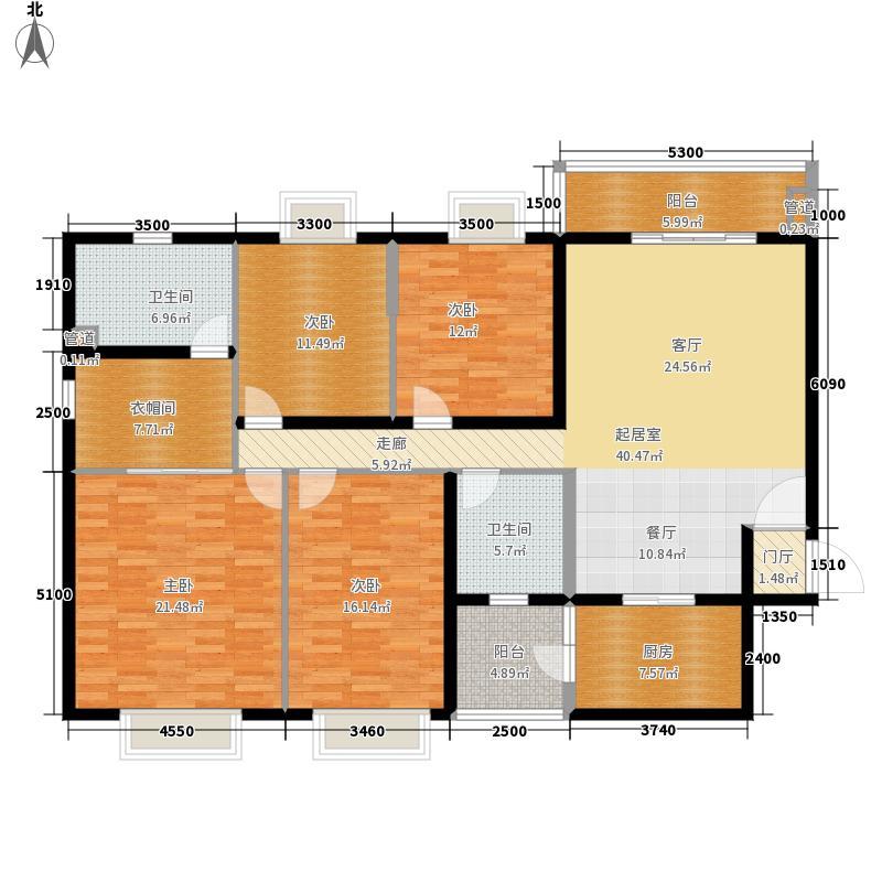 景园·悦海湾186.00㎡户型4室2厅