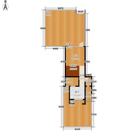 龙湖悠山庭院1厅1卫1厨157.23㎡户型图