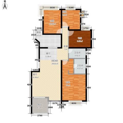 中天阳光美地4室0厅2卫1厨128.00㎡户型图