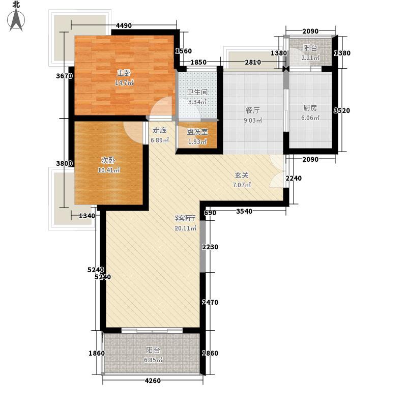 海岸城·郦园101.00㎡无锡海岸城户型2室2厅