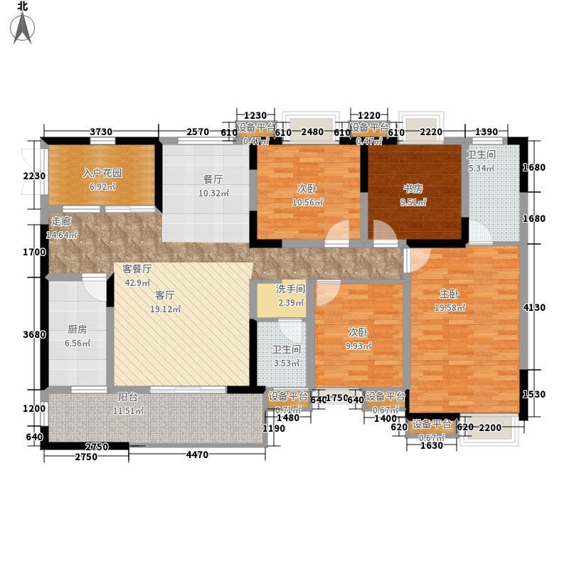 鲁能星城126.70㎡5街区9号楼5号标准层Q户型