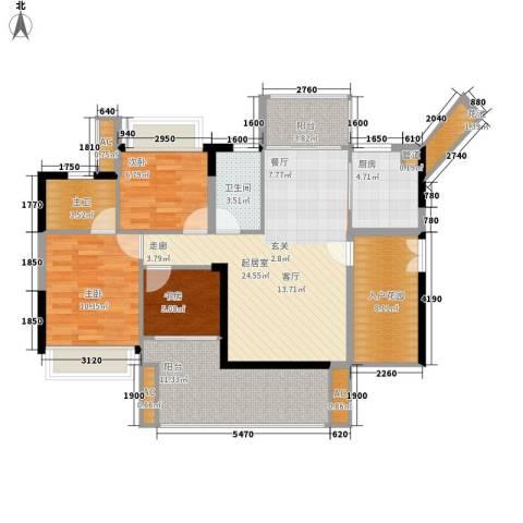 可逸家园3室0厅1卫1厨98.00㎡户型图