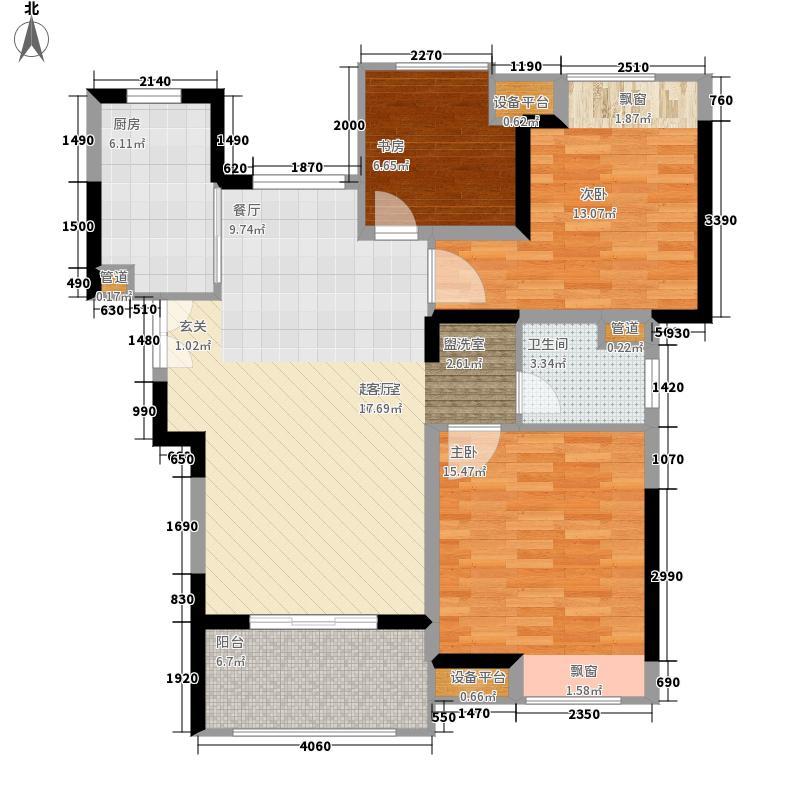 奥克斯盛世缔壹城95.00㎡G3-950户型2室2厅