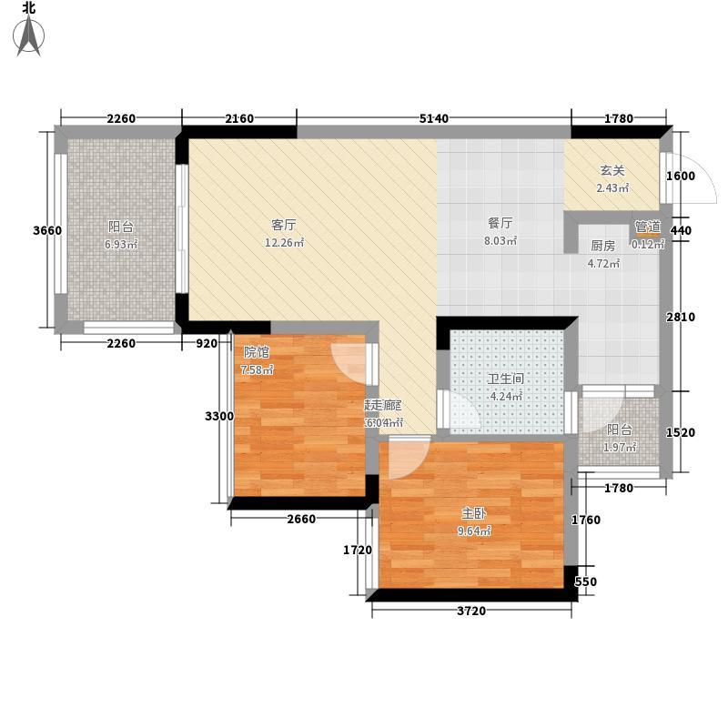 金科10年城64.05㎡二期D8号楼6户面积6405m户型