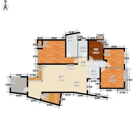 中天阳光美地4室0厅2卫0厨181.00㎡户型图