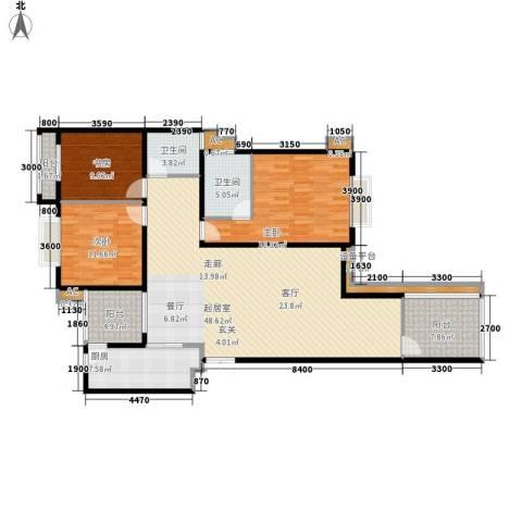 中天阳光美地3室0厅2卫1厨120.91㎡户型图