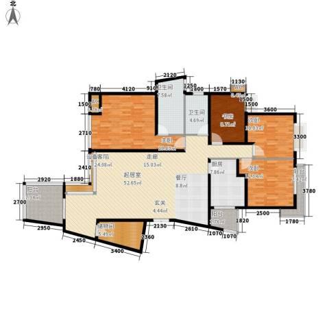 中天阳光美地4室0厅2卫1厨144.37㎡户型图