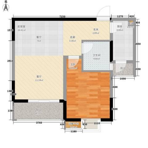 三和悦城1室0厅1卫1厨75.00㎡户型图