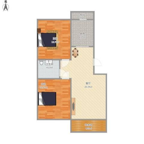 佳和雅庭2室1厅1卫1厨93.00㎡户型图