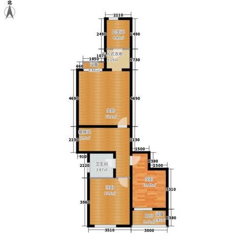 龙湖悠山庭院3室0厅2卫0厨144.00㎡户型图