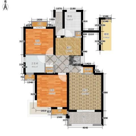 保利金爵公寓2室0厅1卫1厨87.00㎡户型图