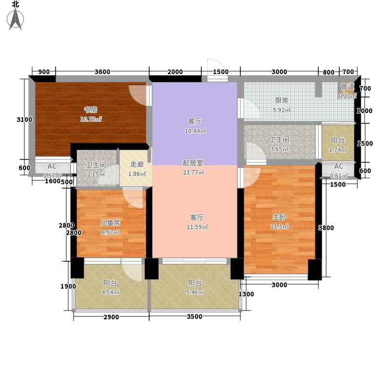 创城·宜城风景89.00㎡C约89户型3室2厅