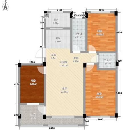凤凰山花园3室0厅2卫1厨111.00㎡户型图