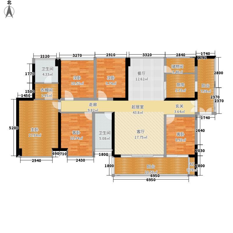 THETOWN乐城167.00㎡7栋标准层B户型5室2厅