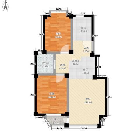 哈佛映像2室0厅1卫0厨61.99㎡户型图