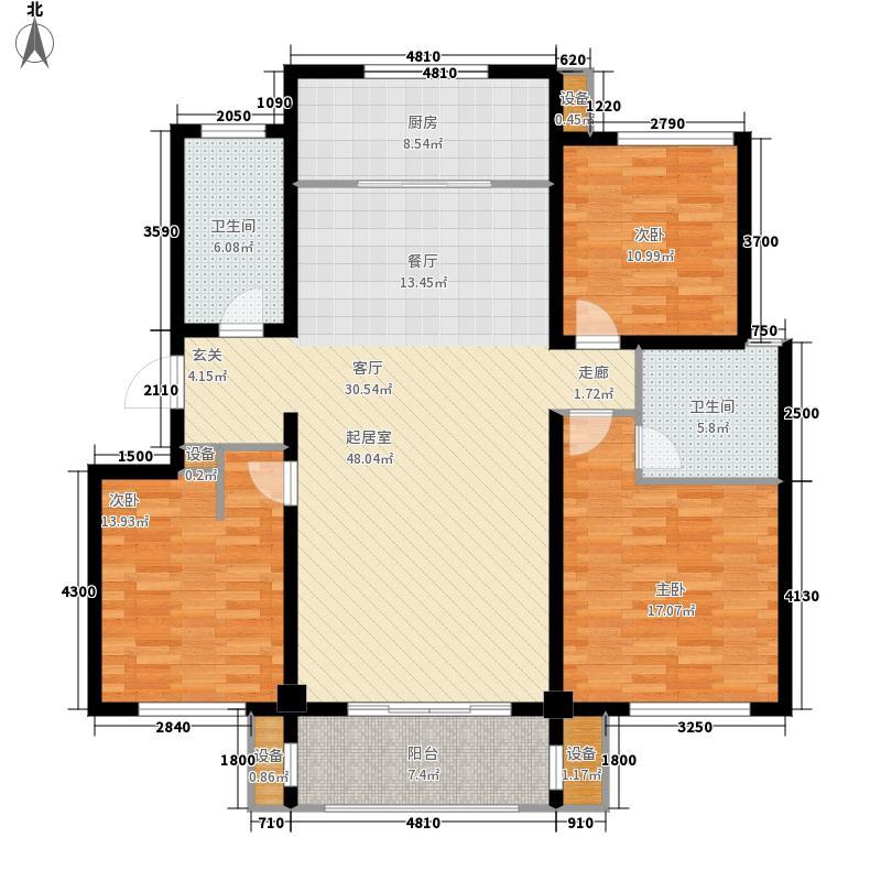 阳光上城136.61㎡6号楼C户型3室2厅