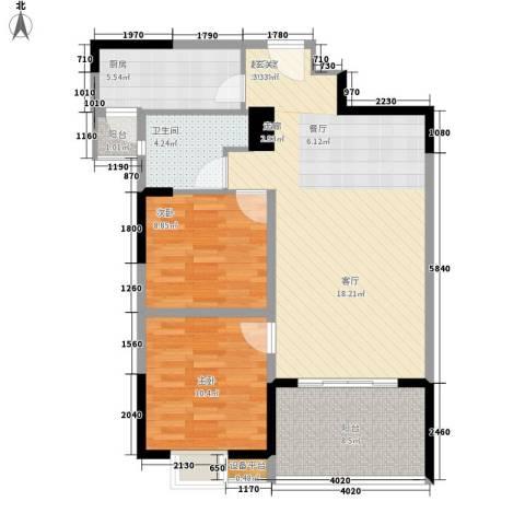 三和悦城2室0厅1卫1厨98.00㎡户型图
