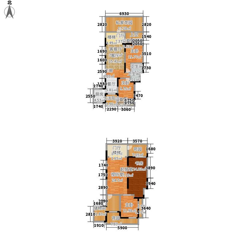欧郡A区219.00㎡一期A区A底跃户型